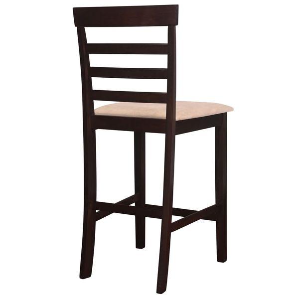 Drewniane, brązowe meble barowe: stół i 4 krzesła zdjęcie 6