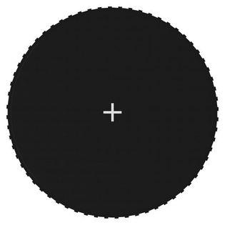 Mata do skakania do trampoliny 3,66 m, czarna, okrągła