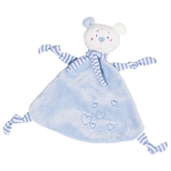 Przytulanka niebieski Miś z serduszkami zdjęcie 2