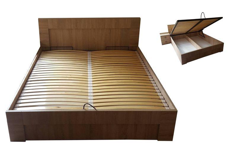 łóżko 120 X 200 Z Pojemnikiem Sonoma Olcha Wenge 8 Kolorów