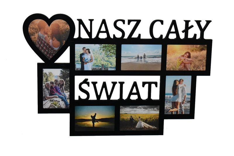 Multirama ramka na zdjęcia z napisem Nasz Cały Świat na Arena.pl
