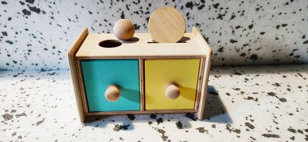 Pudełko Z Szufladkami Montessori 2 in 1