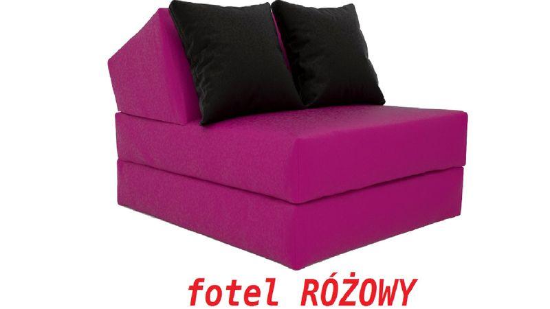 Fotel Rozkładany 15cm Sofa Pufa Kanapa Materac Arenapl