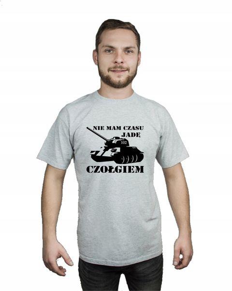 Koszulka męska NIE MAM CZASU JADĘ CZOŁGIEM r M na Arena.pl