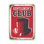 Wydruk na metalu, Retro – klub dżentelmenów 30x40 zdjęcie 1