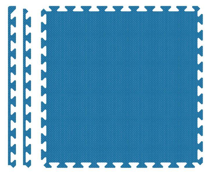 PUZZLE PIANKOWE MATA 4szt 62x62x1,1 cm Niebieski na Arena.pl