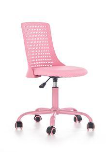 Fotel do biurka PURE dla dziecka RÓŻOWY obrotowy