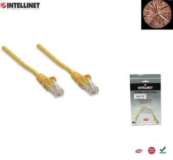 Patch Cord 100% miedź Intellinet Cat.5e UTP, 10m, żółty ICOC U5EB-100-YE