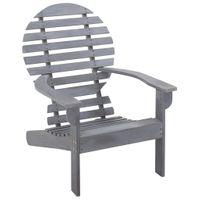 Krzesło drewno akacjowe Adirondack szare VidaXL
