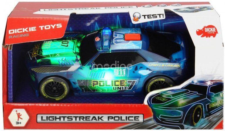 Auto Lightstreak Policja ze światłem i dźwiękiem Dickie 3763001 zdjęcie 2