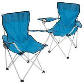 Zestaw 2 krzeseł kempingowych Krzesło składane