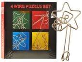 4 Puzzle zakręcona metalowa łamigłówka ZA1132