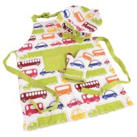 Zestaw Odzieży Kuchennej Dla Dzieci Fartuch + Rękawica + Czapka Orion Auta 960355