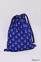 Worek na kapcie buty do szkoły do przedszkola kotwice niebieskie
