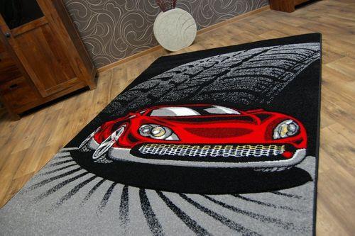 Dywan dziecięcy HAPPY C271 czarny Auto 280x370 cm czarny na Arena.pl