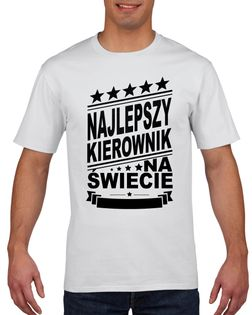 Koszulka męska NAJLEPSZY KIEROWNIK L