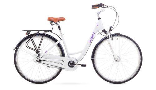 Rower miejski Romet Art Deco 7 biały rama 17''