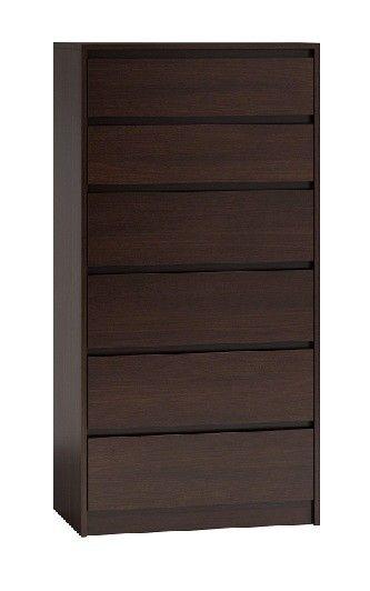 Komoda szafka 6 szuflad wys 140cm karo k6 wenge zdjęcie 1