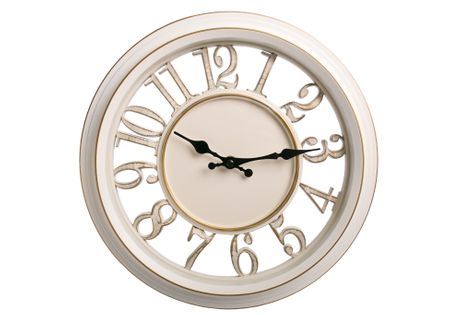 Zegar ścienny biały retro