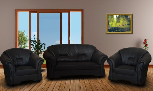 Zestaw wypoczynkowy ALEX 2+1+1 - mały komplet wypoczynkowy do salonu