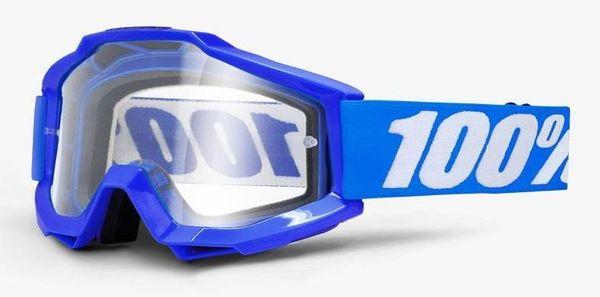 Gogle 100% ACCURI REFLEX BLUE (Szyba Przezroczysta Anti-Fog) (NEW)