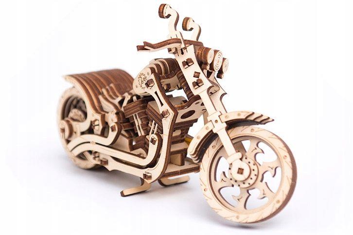Motocykl Mechaniczne Puzzle 3D Drewniane Wooden City zdjęcie 11