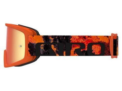Gogle GIRO TAZZ MTB lava (Szyba kolorowa AMBER xx% S3 + Szyba Przeźroczysta 99% S0) mocowanie pod zrywki (DWZ)