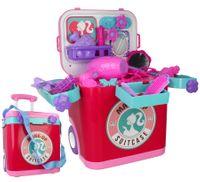 Mini Toaletka Dla Dziewczynki w walizce na kółkach z akcesoriami Y248