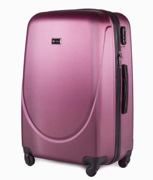 0f28e135e2a5e Walizka podróżna duża burgundowa solidna twarda pojemna torba turystyczna  zdjęcie 1