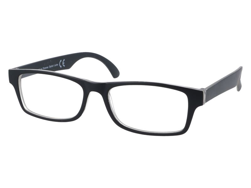 Czarne okulary korekcyjne do czytania plusy +3.50 zdjęcie 2