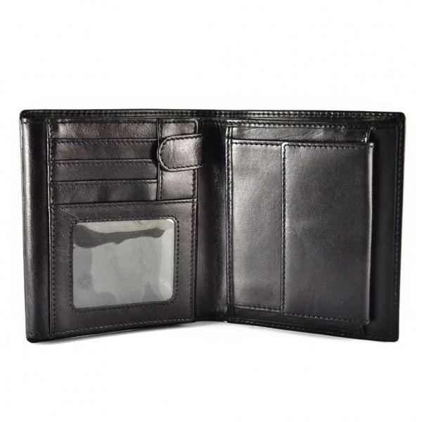 Skórzany portfel męski Peterson, RFID, czarny zdjęcie 3