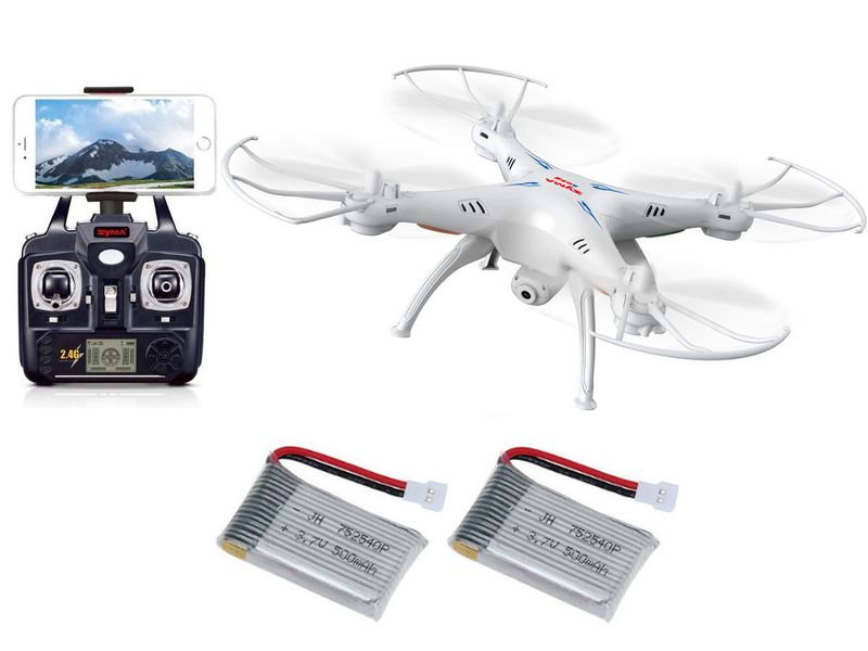 DRON SYMA X5SW kamera WIFI PODGLĄD - 2 BATERIE zdjęcie 1