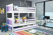 Łóżko dziecięce piętrowe dla dwójki dzieci RICO 190x80 meble