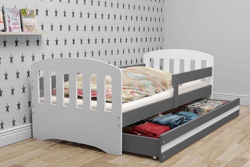 Łóżko dla dzieci HAPPY dziecięce 160x80  + SZUFLADA + MATERAC zdjęcie 2