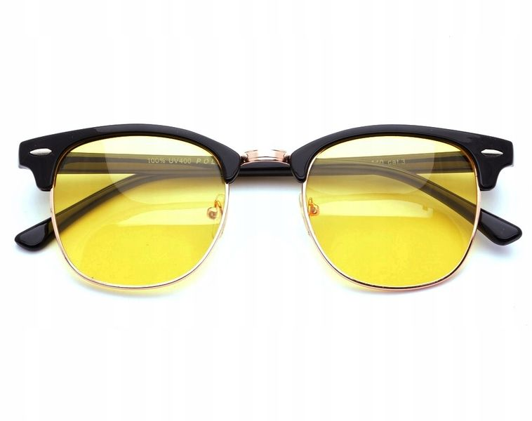 Okulary rozjaśniające dla kierowców półramki zdjęcie 1