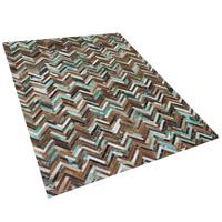 Dywan patchwork skórzany 160 x 230 cm wielokolorowy AMASYA