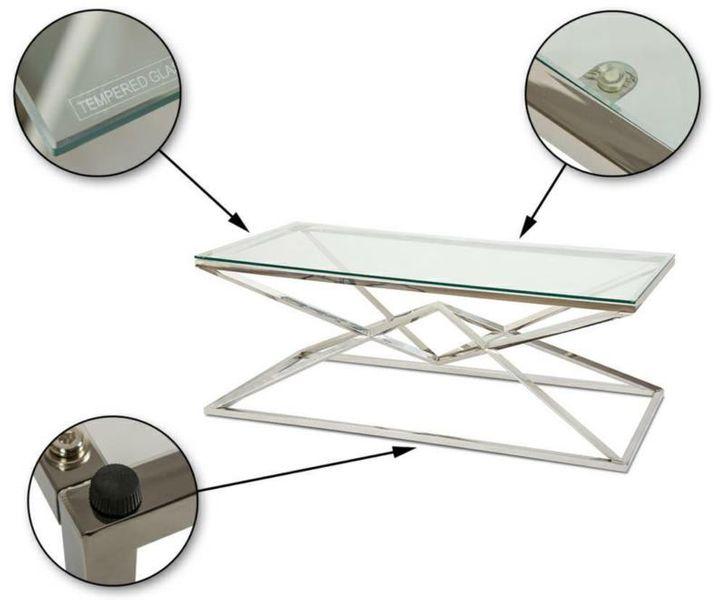 Stolik kawowy ława stół blat szkło hartowane zdjęcie 5