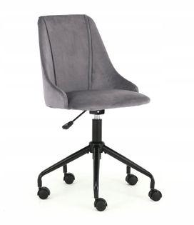 Fotel BREAK do biurka młodzieżowy SZARY obrotowy