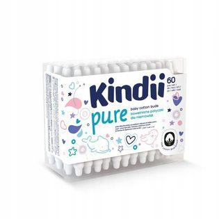 Patyczki dla niemowląt Cleanic Kindii Baby Sensitive (60 sztuk)
