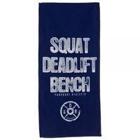 Poundout ręcznik na siłownię frotte SQUAT DEADLIFT BENCH Rozmiar - 70cm x 140cm