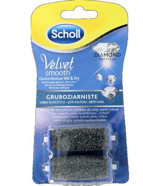 ea585d5d54c Scholl Velvet Smooth Gruboziarnista delikatnie wygładzająca głowica  obrotowa z kryształkami diamentów, 1 sztuka zdjęcie 1