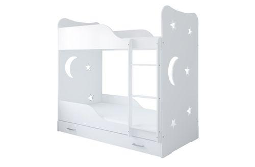Łóżko piętrowe STARS 160x80 + 2 materace piankowe + pojemna szuflada na Arena.pl