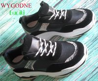 Sneakersy adidasy czarne gruba podeszwa r.38