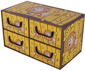 Pudełko Kartonowe 4 Szuflady Poziome Sawanna Lew