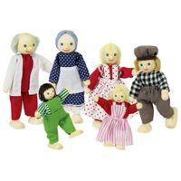 Rodzina laleczek ( 6 osób), kukiełki