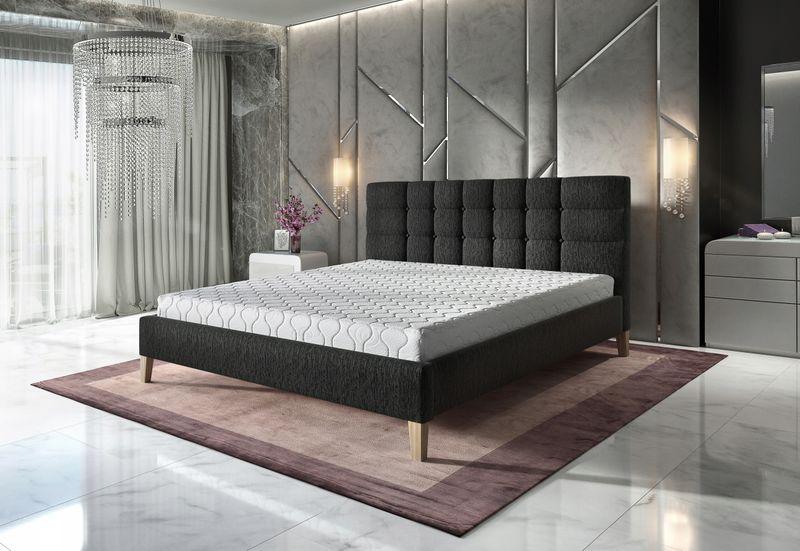 łóżko Tapicerowane Gallardo 160x200 Wysokie Nóżki