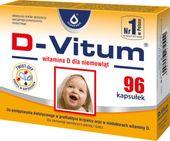 D-Vitum witamina D dla niemowląt 400j.m. 96 kapsułek twist-off - Długi termin ważności!