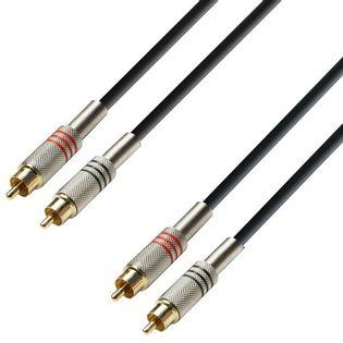 KP6CCM4, Kabel audio 2 x cinch męskie – 2 x cinch męskie, 6m
