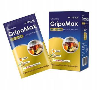 Saszetki Activlab GripoMax 10 saszetek miód-imbir