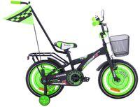 Rower dziecięcy 16 BMX Racing Fuzlu czarny mat zielony